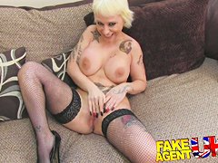 FakeAgentUK Rimming, blowjobs and fucking from Blonde